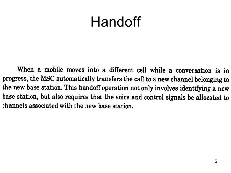 5 Handoff