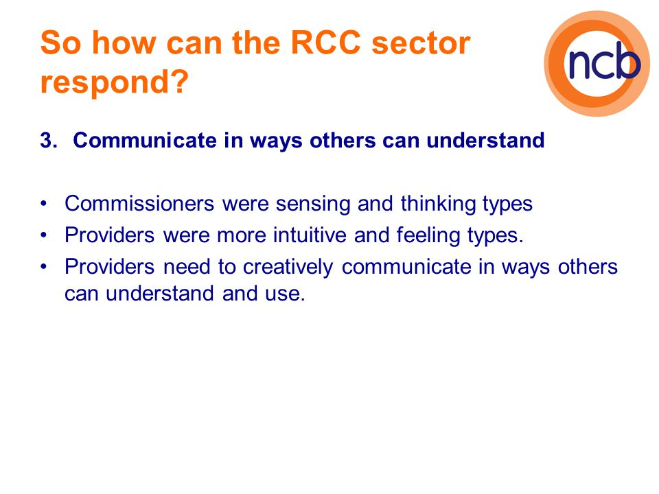 So how can the RCC sector respond.