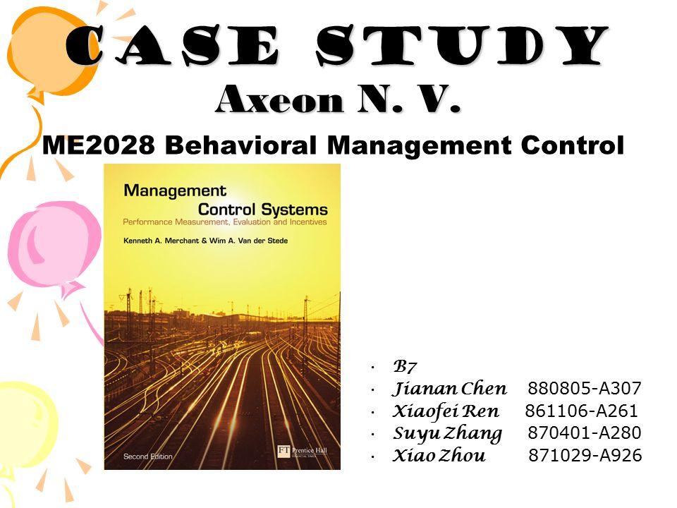 Case Study Axeon N. V.