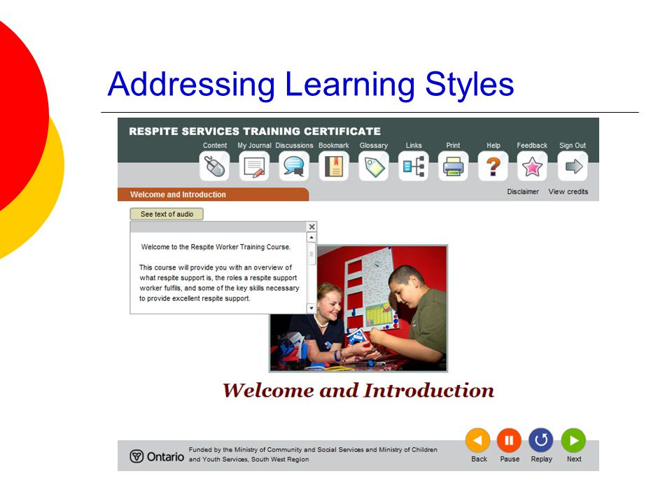 Addressing Learning Styles