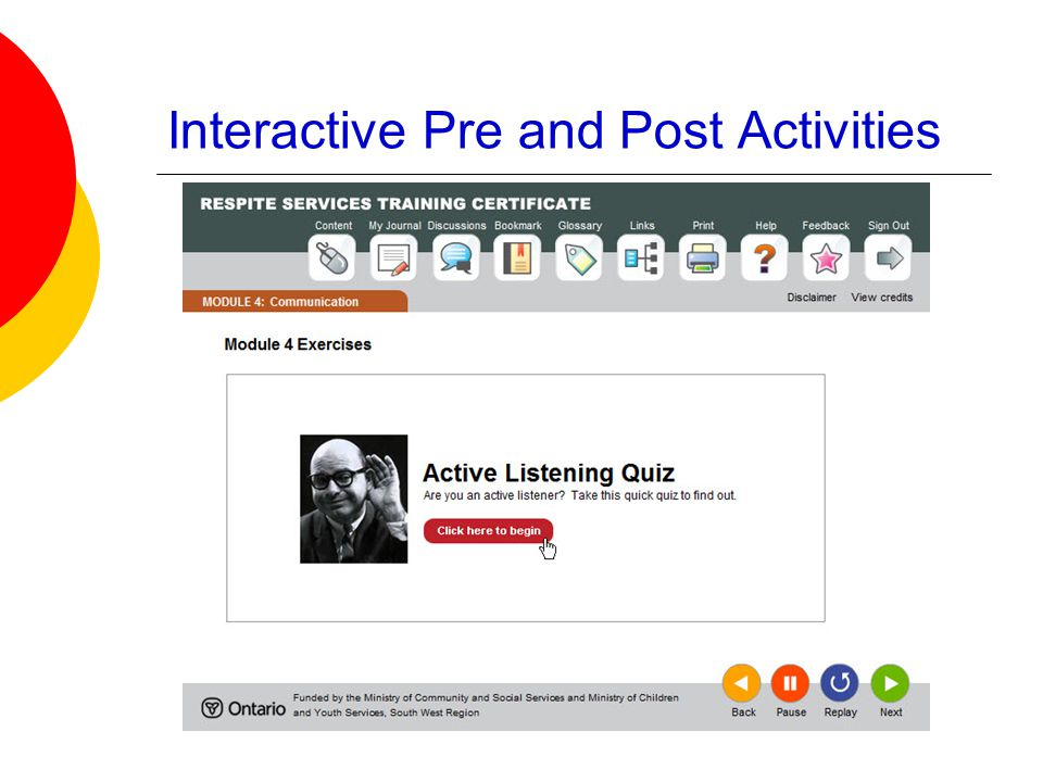 Interactive Pre and Post Activities