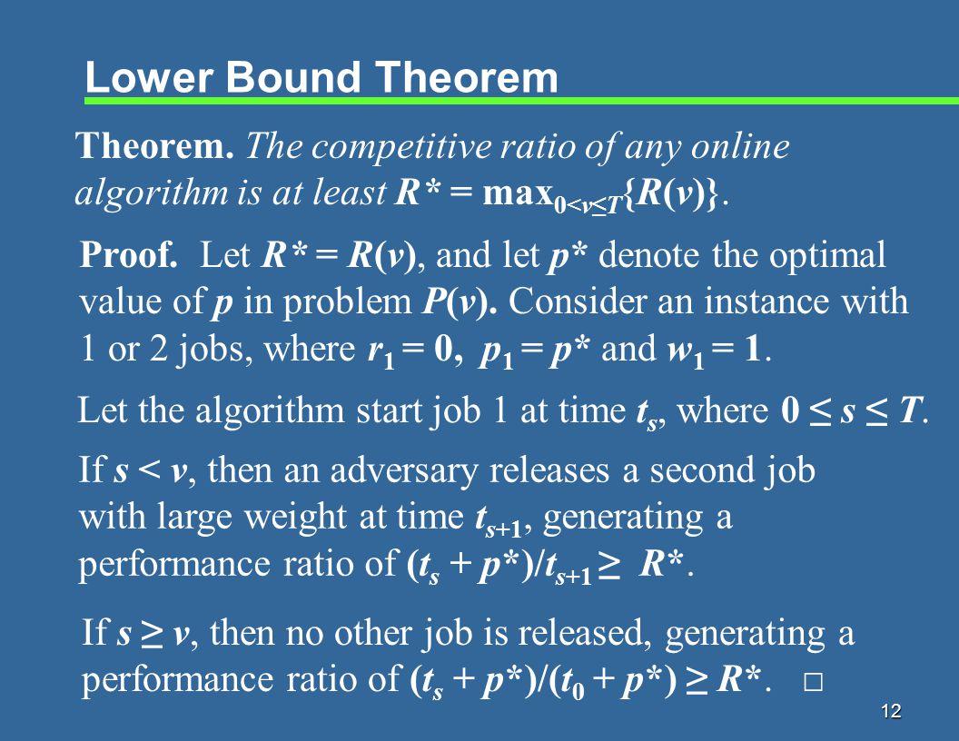 12 Lower Bound Theorem Theorem.