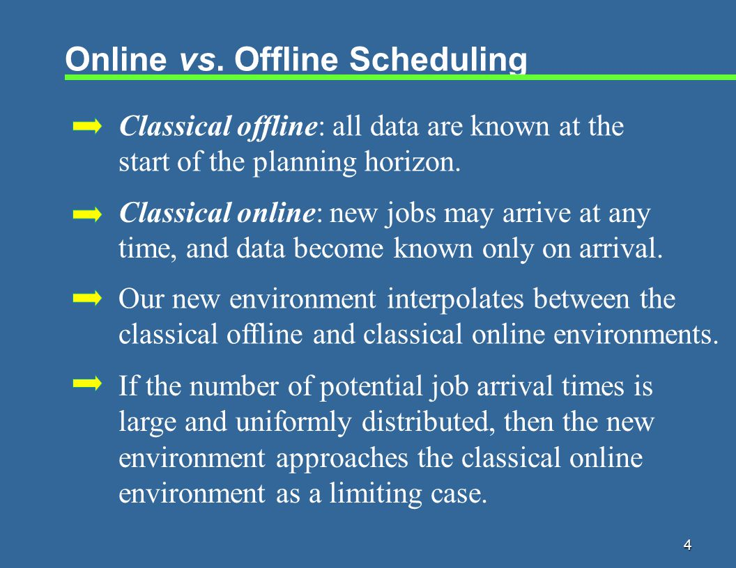 15 Design of Online Algorithm j tCjCj Need to protect against the arrival of a short job with very large weight arriving at time t.