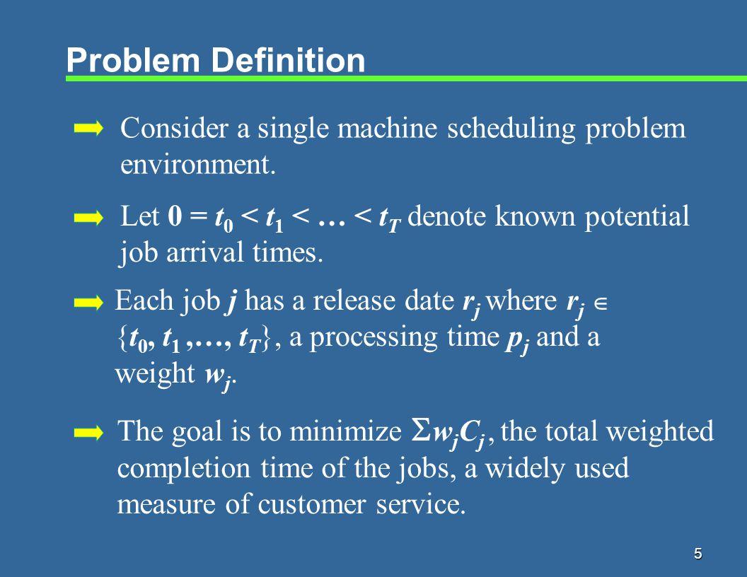 16 Online Algorithm Algorithm CSWPT 1.Let j = an available job with largest w j /p j ratio.