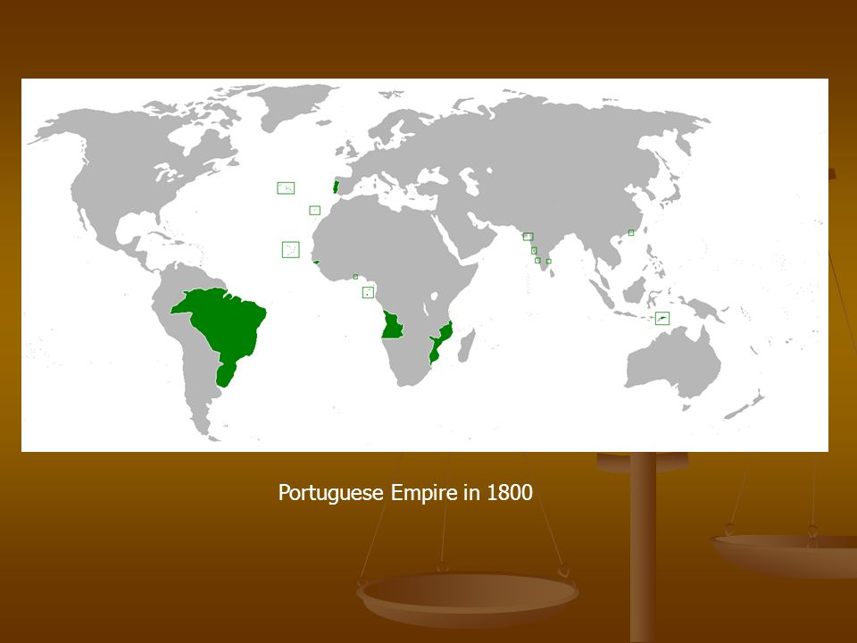 Portuguese Empire in 1800