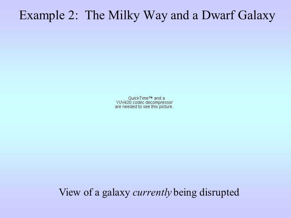 View of a galaxy currently being disrupted