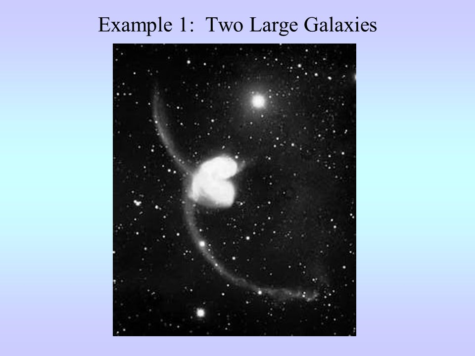 Example 1: Two Large Galaxies