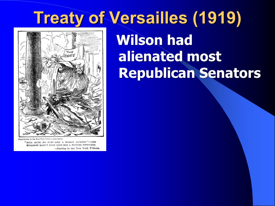Wilson had alienated most Republican Senators Wilson had alienated most Republican Senators