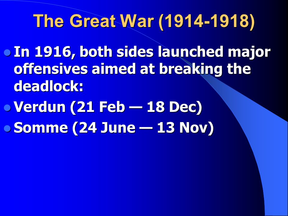 The Great War (1914-1918) ...lost territory in Texas, New Mexico, and Arizona. ...