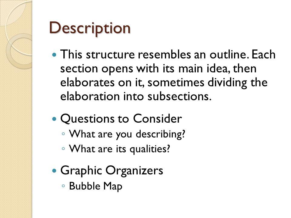 Description This structure resembles an outline.
