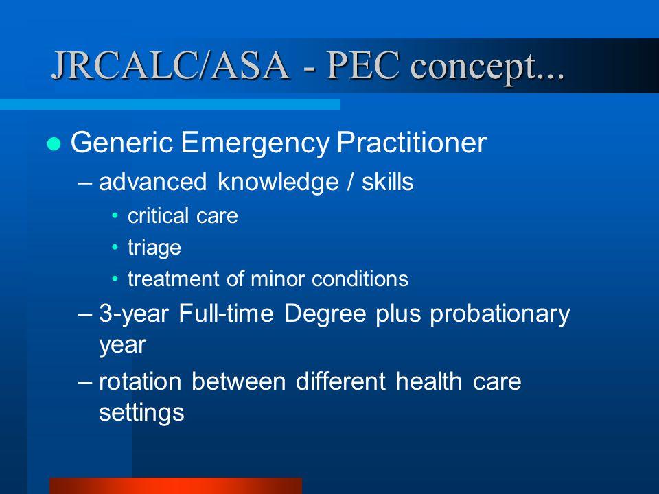 JRCALC/ASA - PEC concept...