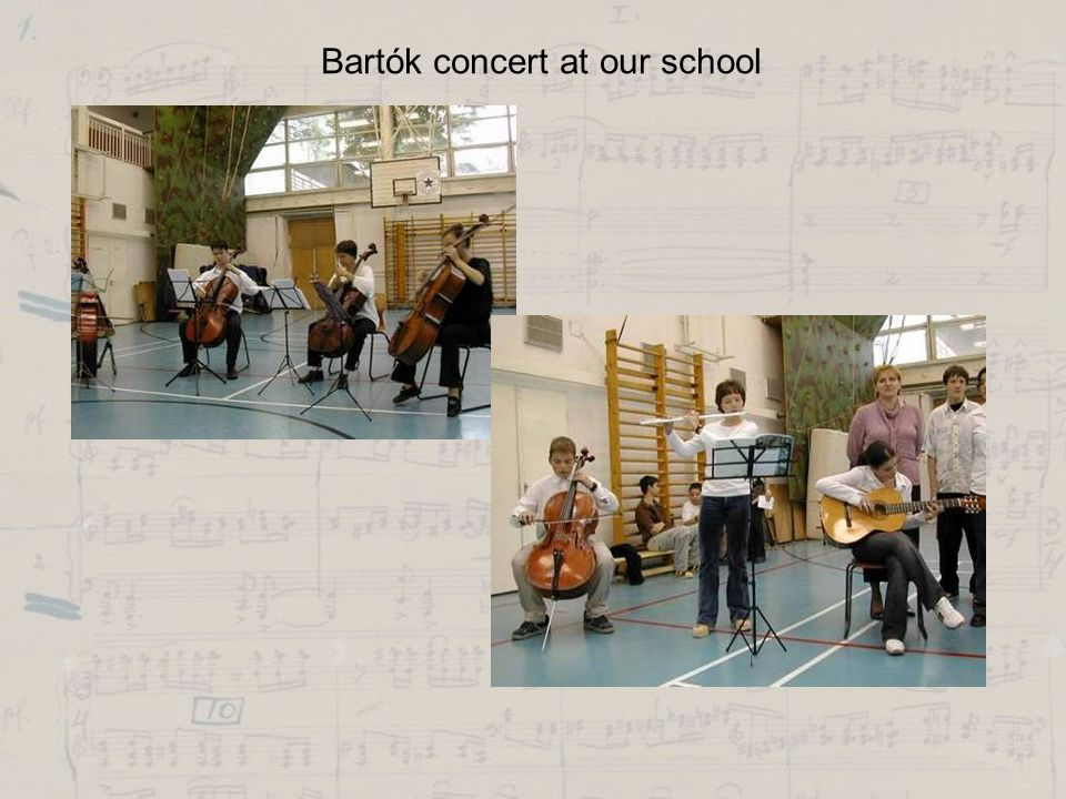 Bartók concert at our school