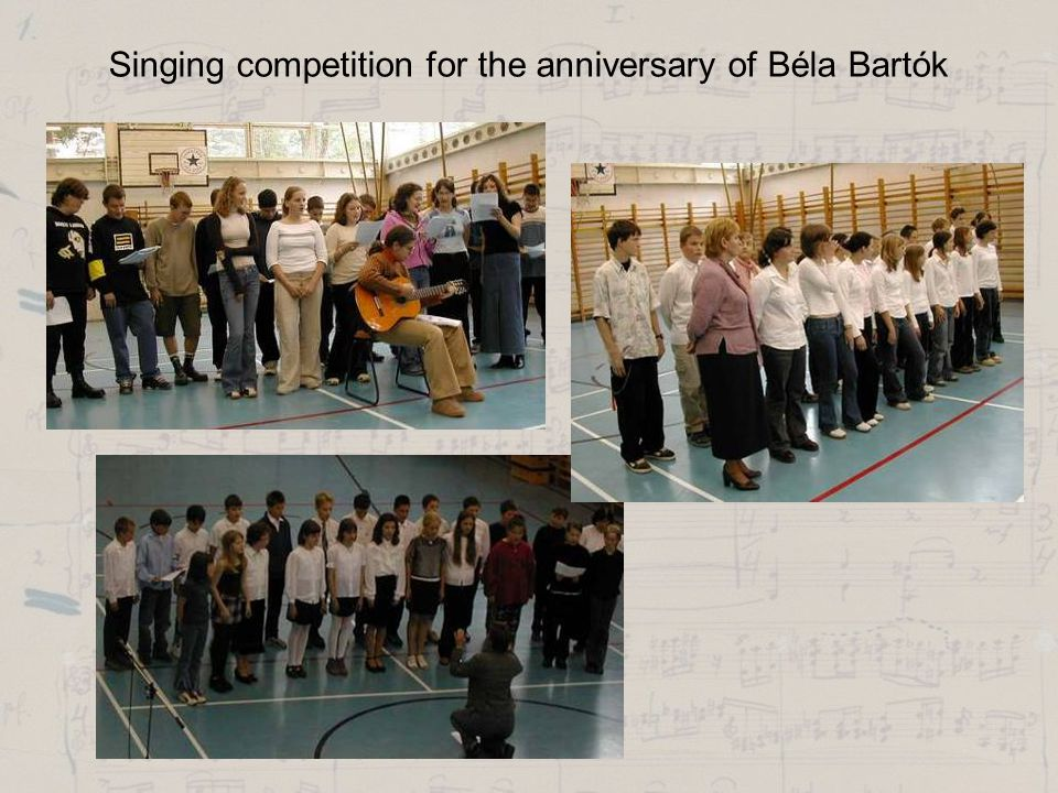 Singing competition for the anniversary of Béla Bartók