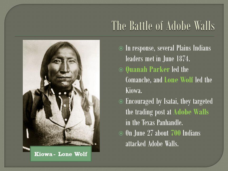  In response, several Plains Indians leaders met in June 1874.