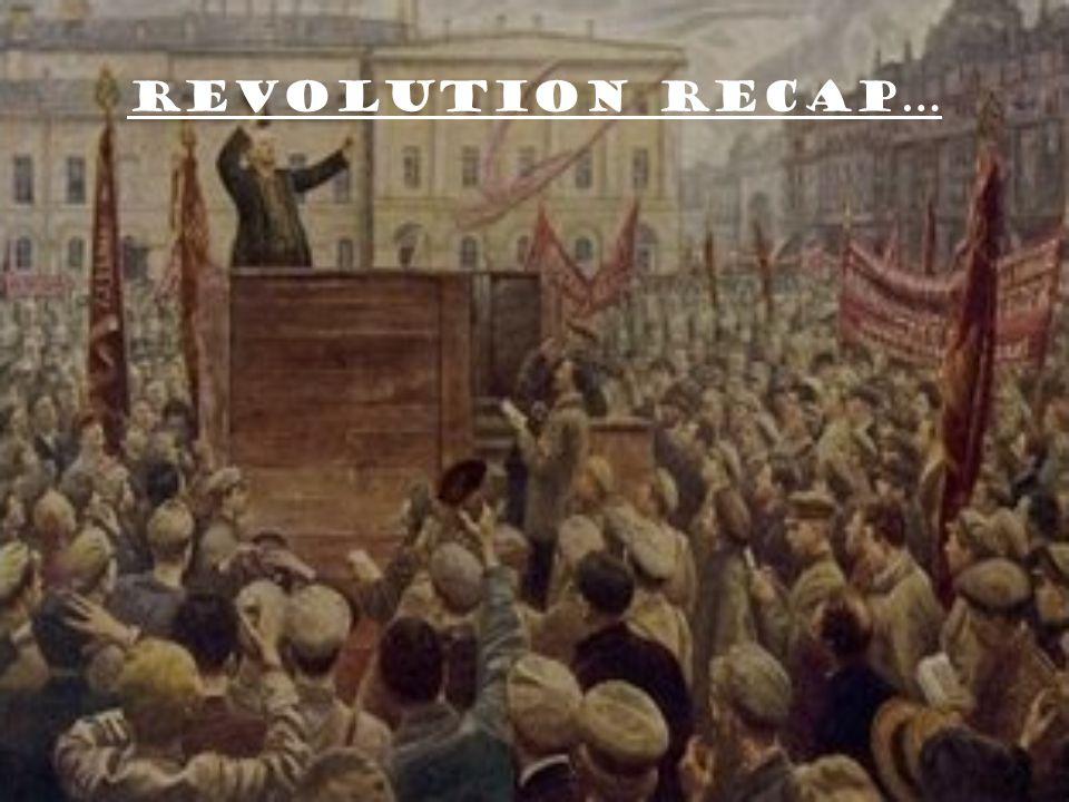 Revolution Recap…