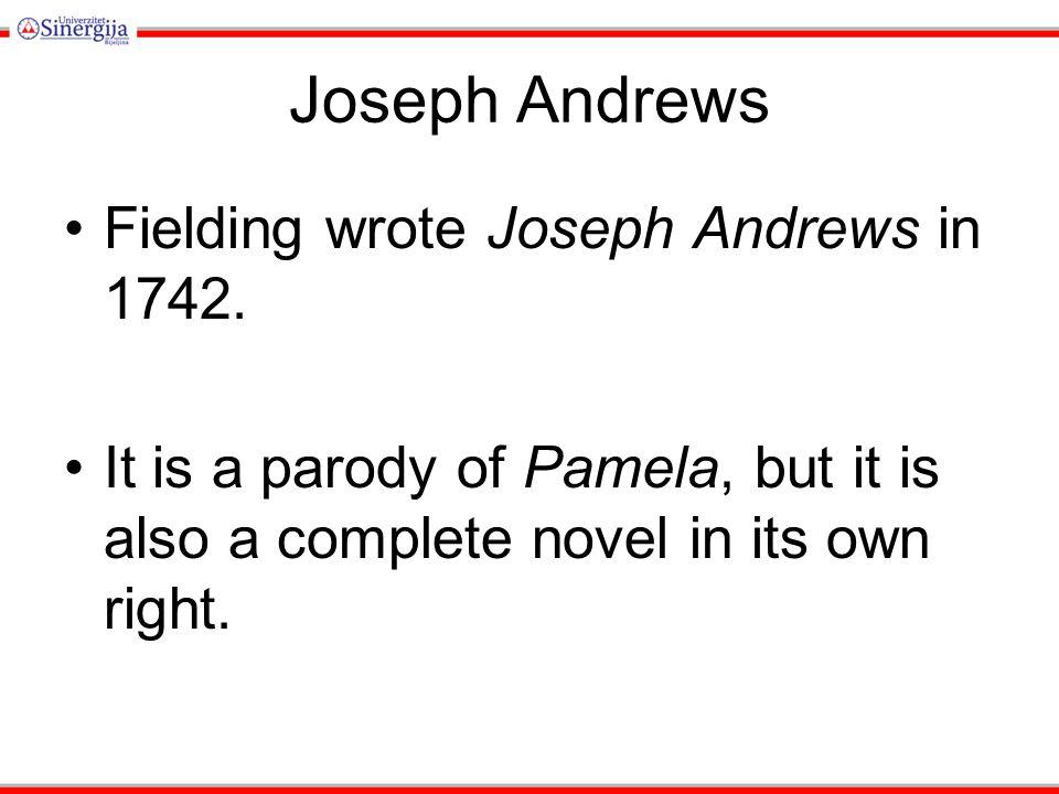 What makes Joseph Andrews a PARODY?
