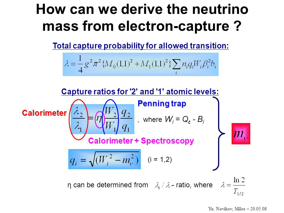 How can we derive the neutrino mass from electron-capture .