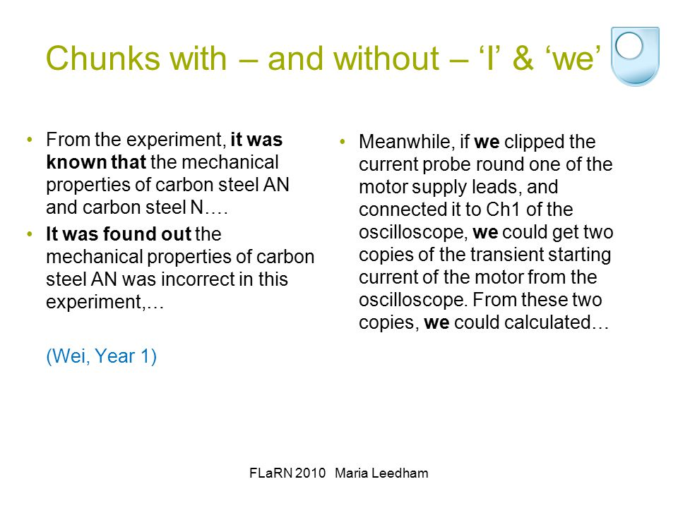 Chunks with – and without – 'I' & 'we' From the experiment, it was known that the mechanical properties of carbon steel AN and carbon steel N….
