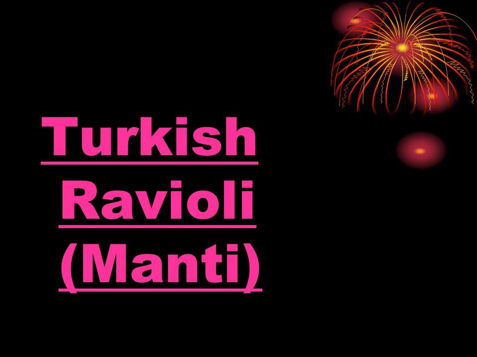 Turkish Ravioli (Manti)