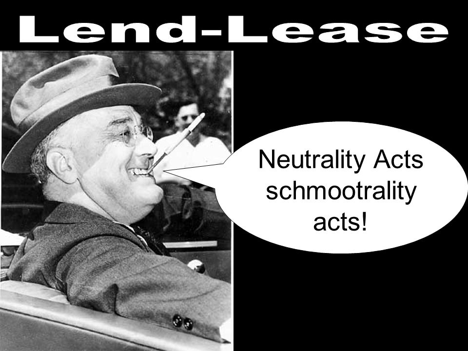 Neutrality Acts schmootrality acts!