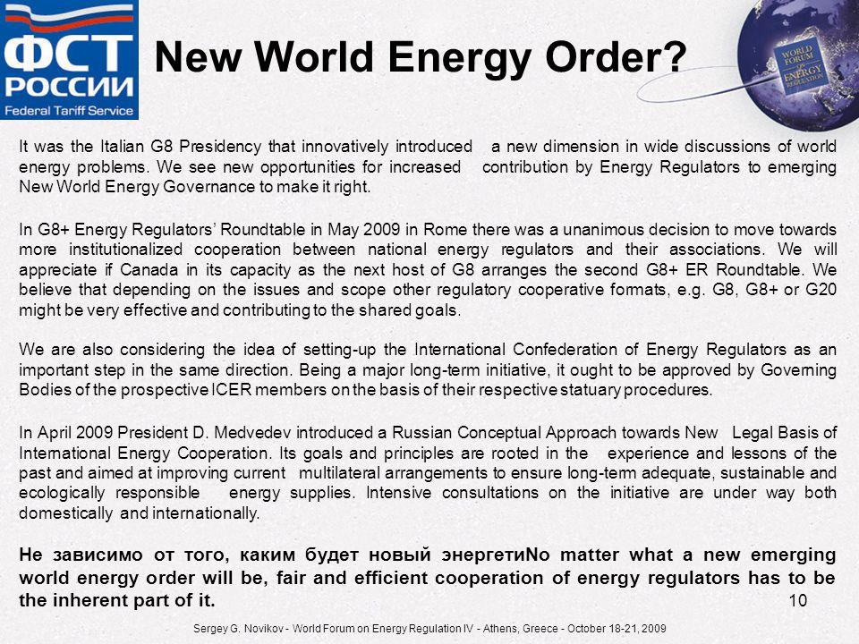 10 New World Energy Order.