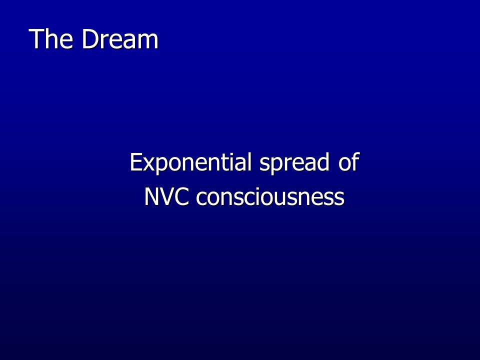 The Dream Exponential spread of NVC consciousness
