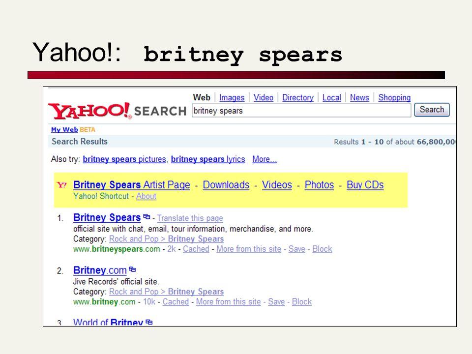 Yahoo!: britney spears