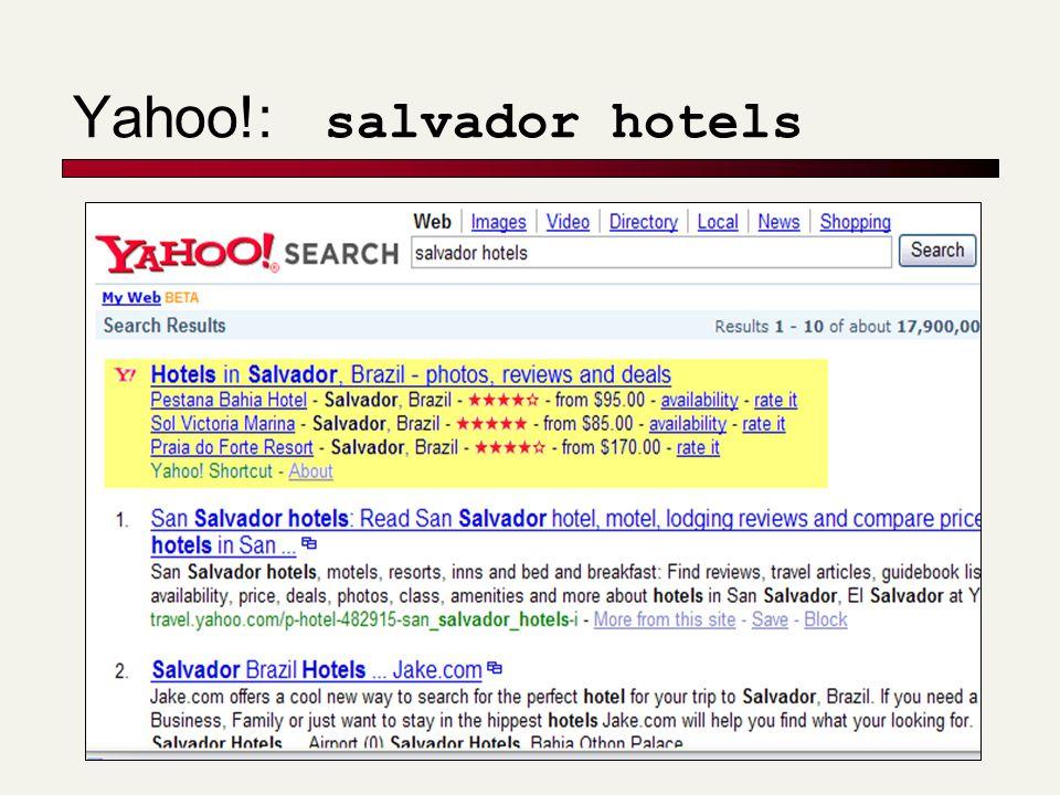 Yahoo!: salvador hotels