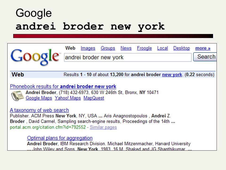 Google andrei broder new york
