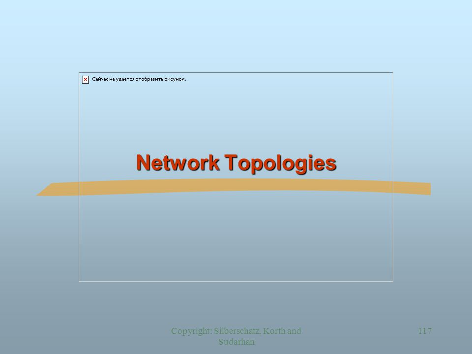 Copyright: Silberschatz, Korth and Sudarhan 117 Network Topologies