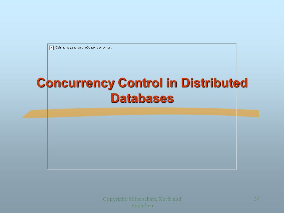 Copyright: Silberschatz, Korth and Sudarhan 34 Concurrency Control in Distributed Databases