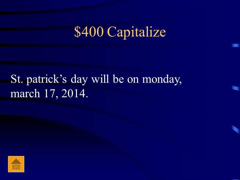 $300 Capitalize You will attend Champe High School in the fall of 2014.