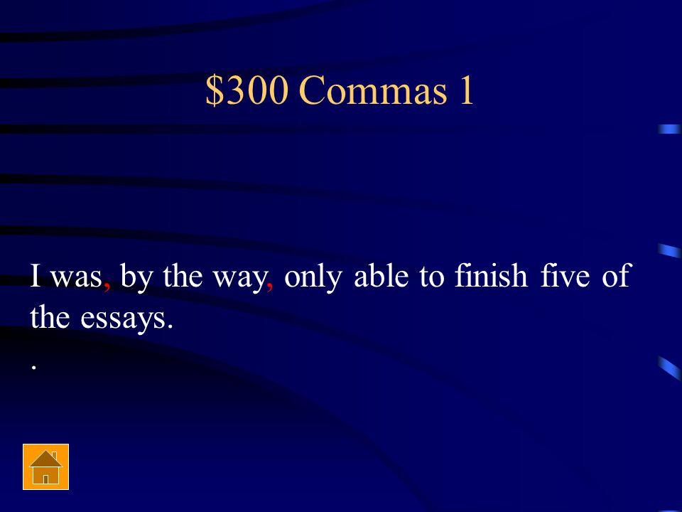 $300 Potpourri Comparative form