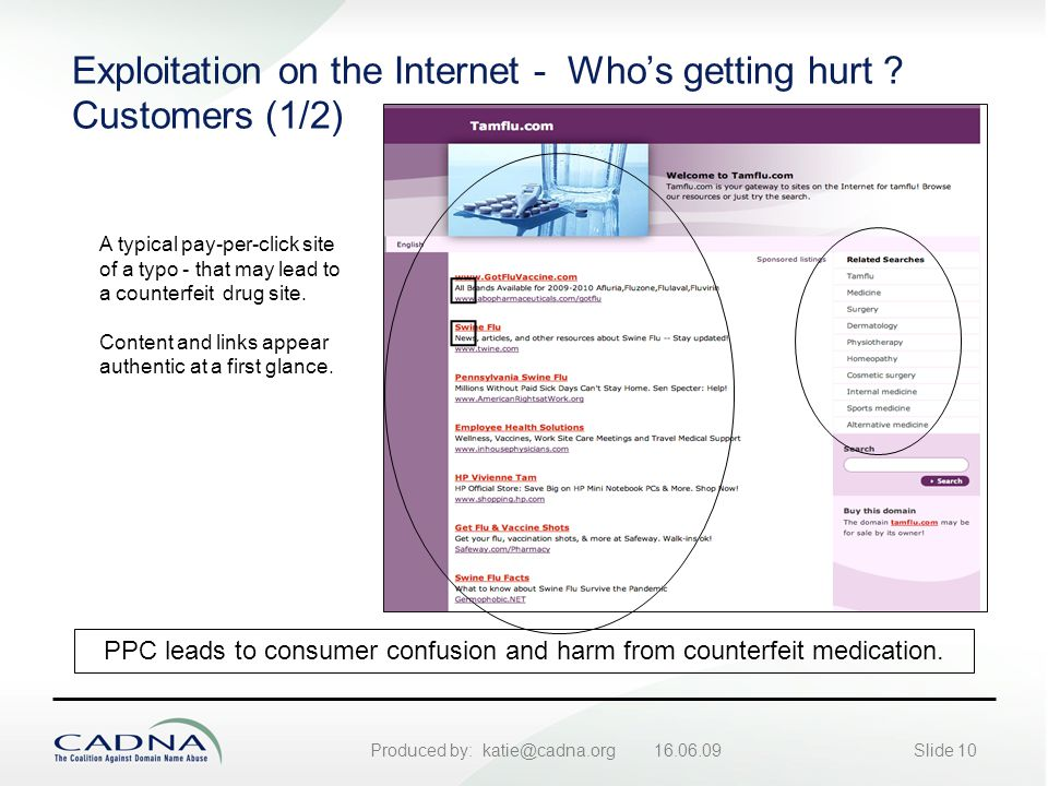 Produced by: katie@cadna.org 16.06.09Slide 10 Exploitation on the Internet - Who's getting hurt .