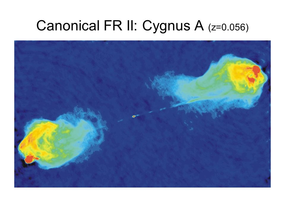 Canonical FR II: Cygnus A (z=0.056)