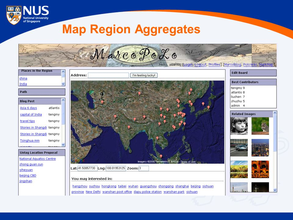 Map Region Aggregates
