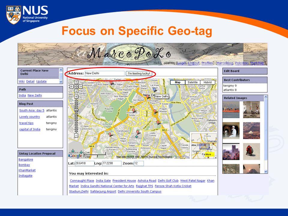 Focus on Specific Geo-tag
