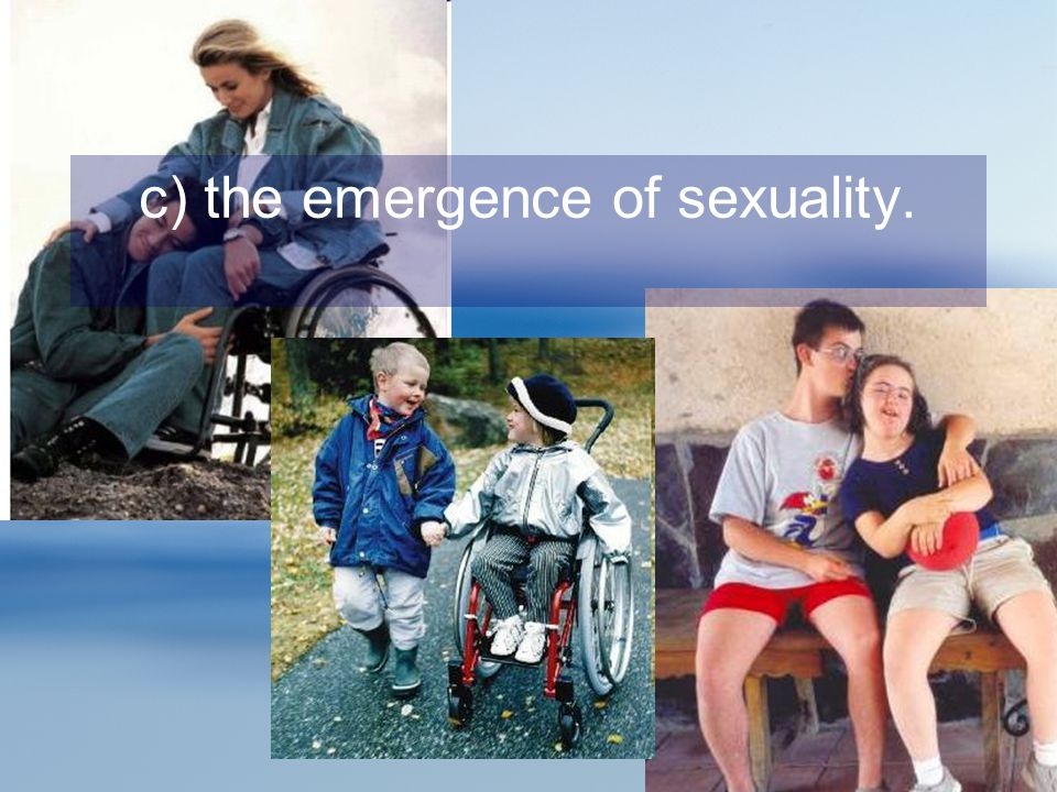 c) the emergence of sexuality.