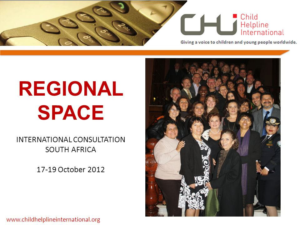 REGIONAL SPACE INTERNATIONAL CONSULTATION SOUTH AFRICA 17-19 October 2012