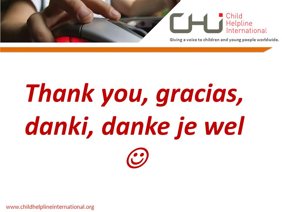 Thank you, gracias, danki, danke je wel
