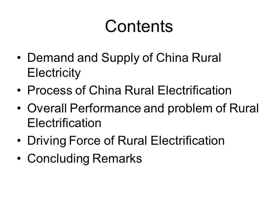 5-2 Further Work Quantitative analysis: some parameters in the electricity demand model need to be estimated, the model may needs some correction; based on the above work, forecast future rural electricity demand Field investigation: further investigate into the driving forces behind China rural electrification The prospects of commercializing renewable energy resources in rural China, their GHG emission mitigation potential scenarios, and relevant cost analysis.
