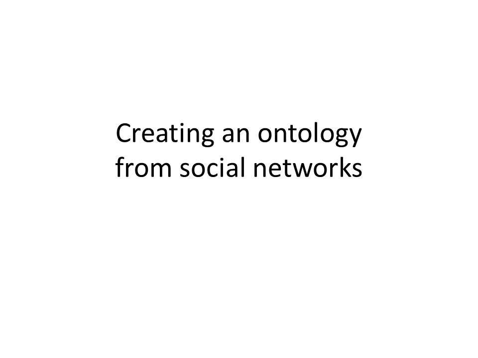 Creating an ontology from social networks