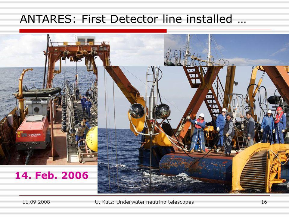 11.09.2008U. Katz: Underwater neutrino telescopes16 14.