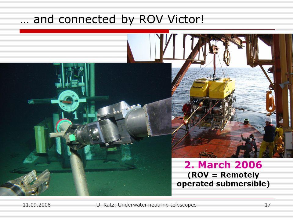 11.09.2008U. Katz: Underwater neutrino telescopes17 2.