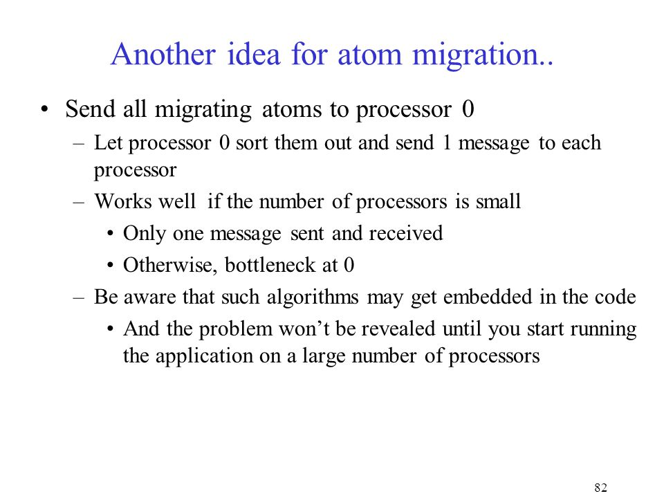 82 Another idea for atom migration..
