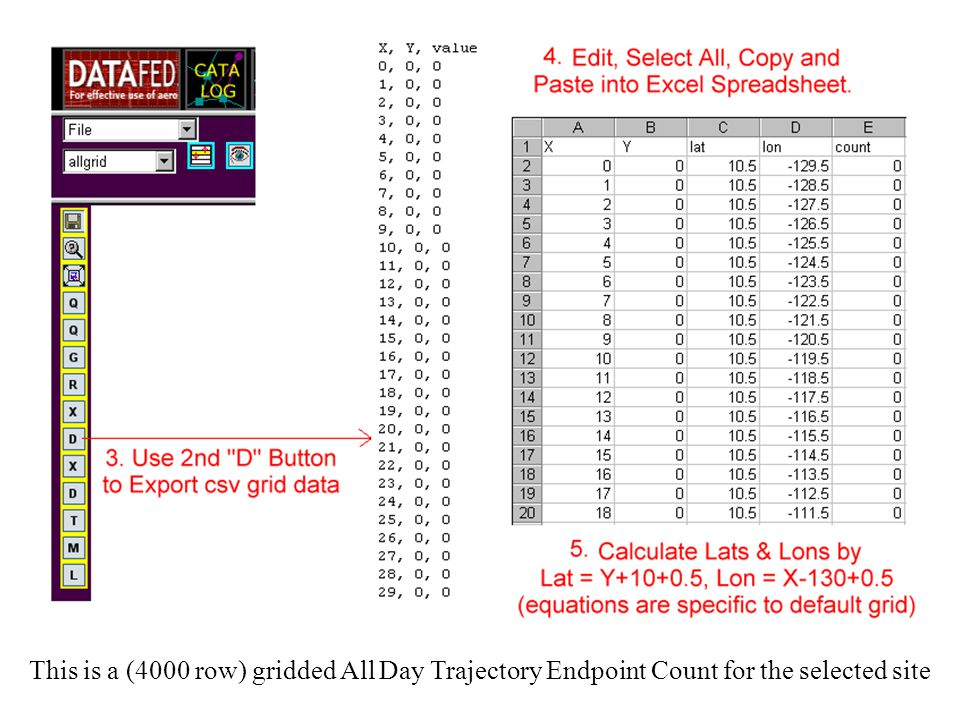 This is a (4000 row) gridded All Day Trajectory Endpoint Count for the selected site