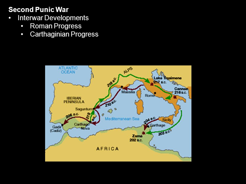 Second Punic War Interwar Developments Roman Progress Carthaginian Progress