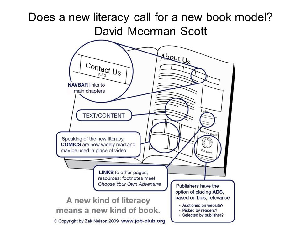 Does a new literacy call for a new book model David Meerman Scott