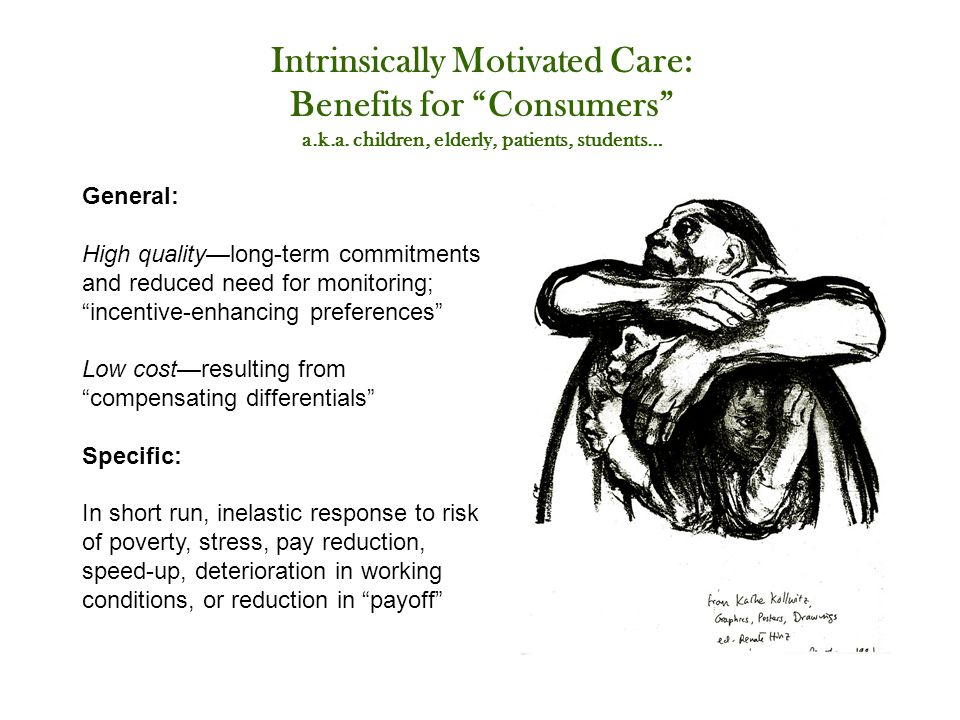 Intrinsically Motivated Care: Benefits for Consumers a.k.a.
