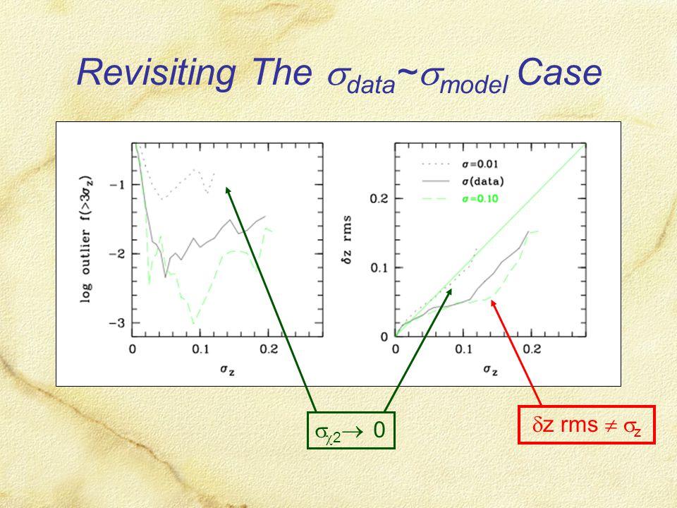 Revisiting The  data ~  model Case  z rms   z   2  0